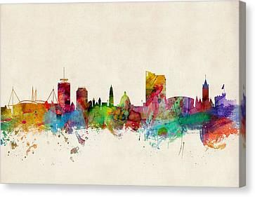 Cardiff Wales Skyline Canvas Print