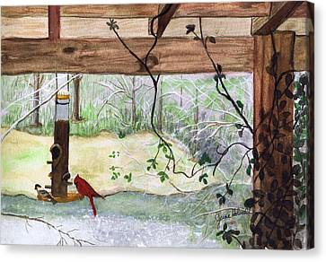 Cardinal-back Porch Picnic Canvas Print