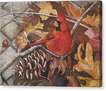 Cardinal Color Canvas Print by Cheryl Borchert
