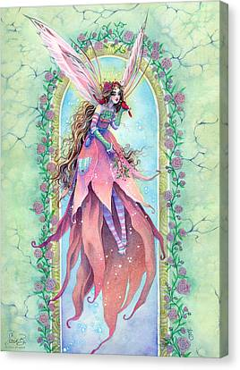 Cardinal Fairy Canvas Print by Sara Burrier