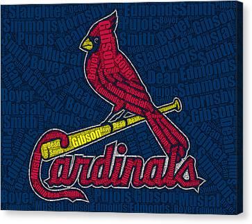 Cardinal Greats Mosaic Canvas Print by Paul Van Scott