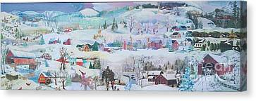 Cardinal In The Snow - Sold Canvas Print