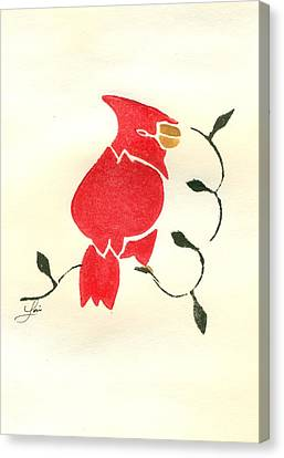 Cardinal Canvas Print by Lori Johnson