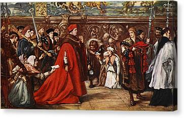 Cardinal Wolsey On His Way Canvas Print by Sir John Gilbert