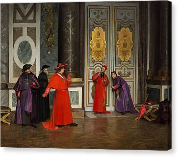 Cardinals In The Hall Of The Vatican Canvas Print