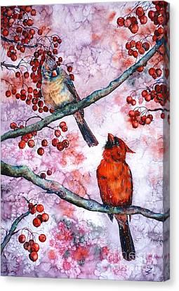 Cardinals  Canvas Print by Zaira Dzhaubaeva