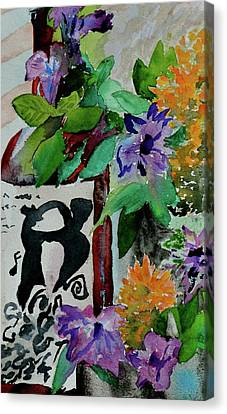 Canvas Print featuring the painting Carefree by Beverley Harper Tinsley