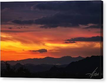 Carefree Arizona Canvas Print - Carefree Skies by Anthony Citro