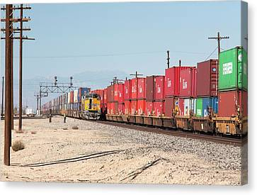 Cargo Container Trains Canvas Print by Jim West