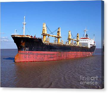Cargo Ship Canvas Print