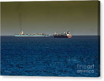 Cargo Steamer  Canvas Print