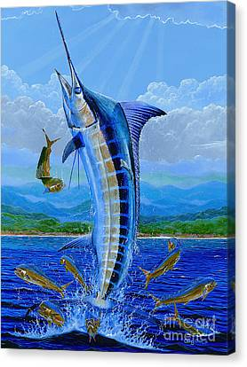 Fish Canvas Print - Caribbean Blue Off0041 by Carey Chen