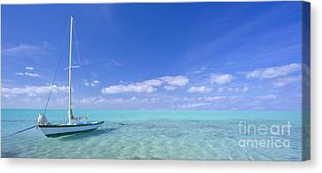 Caribbean Chill Time Canvas Print by Marco Crupi