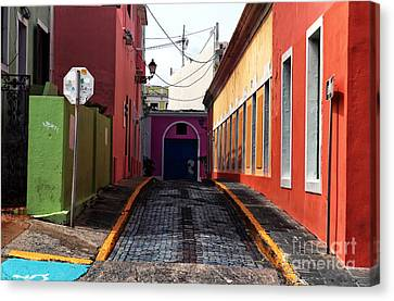 Artists Of Puerto Rico Canvas Print - Caribbean Colors Of San Juan by John Rizzuto