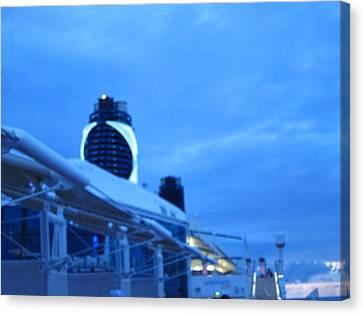 Caribbean Cruise - On Board Ship - 1212100 Canvas Print