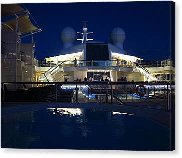 Caribbean Cruise - On Board Ship - 121235 Canvas Print by DC Photographer