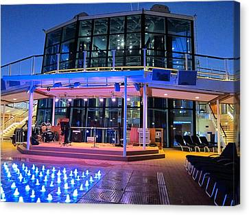 Caribbean Cruise - On Board Ship - 121238 Canvas Print by DC Photographer