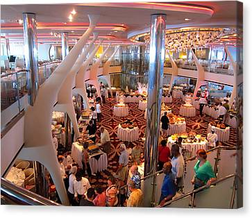 Caribbean Cruise - On Board Ship - 121272 Canvas Print by DC Photographer