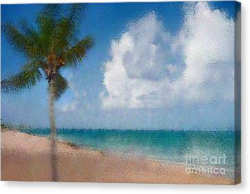 Caribbean Dreams Canvas Print by Betty LaRue