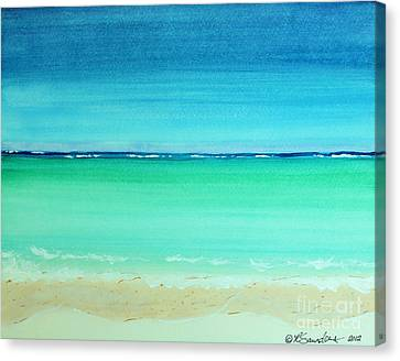 Turquois Water Canvas Print - Caribbean Ocean Turquoise Waters Abstract by Robyn Saunders