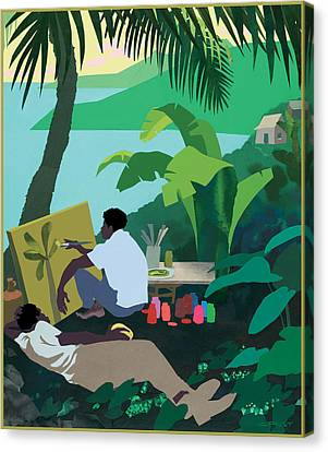 Caribbean Painter Canvas Print by Clifford Faust