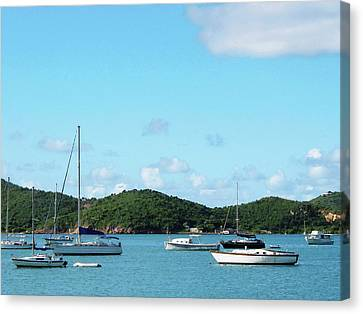 Caribbean - Peaceful Sea St. Thomas Canvas Print by Susan Savad
