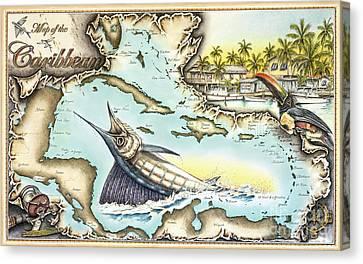 Caribbean Sails Canvas Print