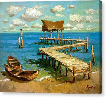 Caribbean Sea 2 Canvas Print by Dmitry Spiros