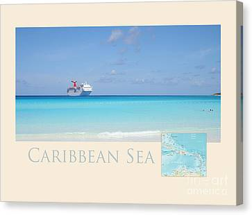 Caribbean Sea Canvas Print by Heidi Hermes