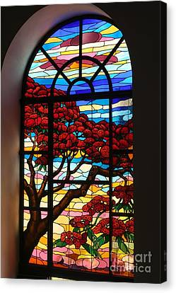 Canvas Print featuring the photograph Caribbean Stained Glass  by The Art of Alice Terrill