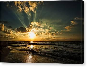 Caribbean Sunrise Canvas Print by Stuart Deacon