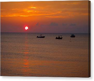 Caribbean Sunset Canvas Print by Carey Chen