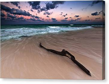 Canvas Print featuring the photograph Caribbean Sunset by Mihai Andritoiu