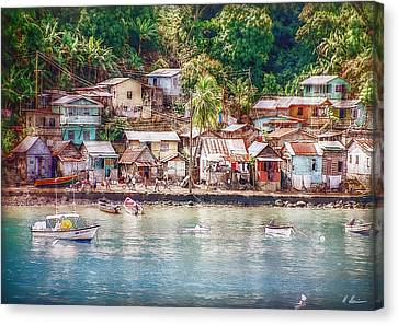 Canvas Print featuring the photograph Caribbean Village by Hanny Heim