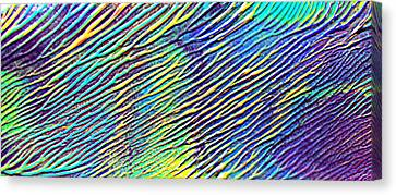caribbean waves Acryl blurred vision Canvas Print by Sir Josef - Social Critic -  Maha Art