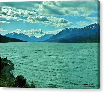 Cariboo Lake View Canvas Print by Barbara St Jean