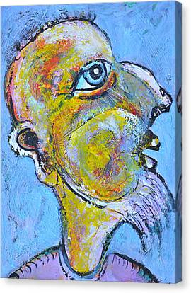 Caricature Of A Wise Man Canvas Print by Ion vincent DAnu