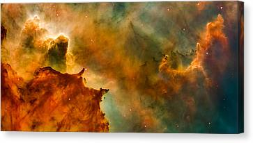 Carina Nebula Details - Great Clouds Canvas Print by Marco Oliveira