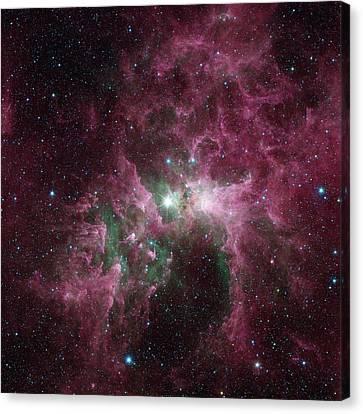 Carina Nebula Canvas Print - Carina Nebula by Nasa/jpl-caltech