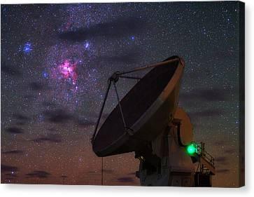 Carina Nebula Canvas Print - Carina Nebula Over Alma Telescope by Babak Tafreshi