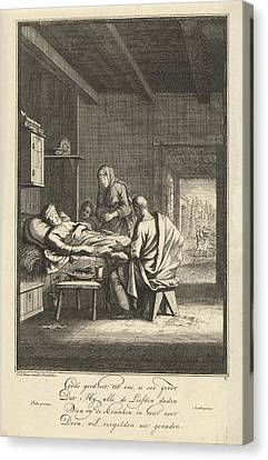 Caring For The Sick, Jan Luyken Canvas Print