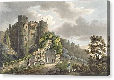 Carisbrook Castle, From The Isle Canvas Print by Frederick Calvert