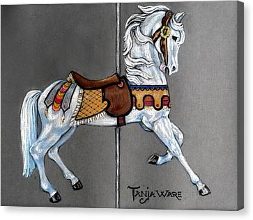 Carl Carmel Carousel Horse Canvas Print by Tanja Ware