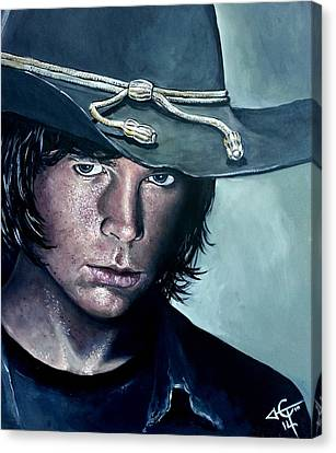 Carl Grimes Canvas Print