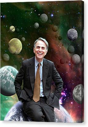 Carl Sagan Canvas Print by Nasa/jpl-caltech