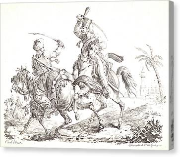 Carle Vernet Aka Antoine Charles Horace Vernet Canvas Print
