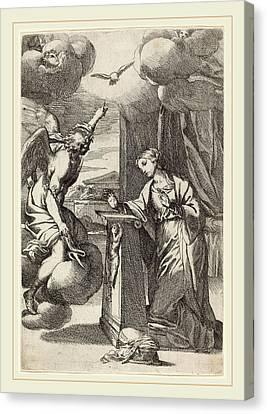 Carlo Maratta Italian, 1625-1713, The Annunciation Canvas Print by Litz Collection