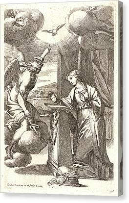 Carlo Maratti Italian, 1625 - 1713. The Annunciation Canvas Print by Litz Collection