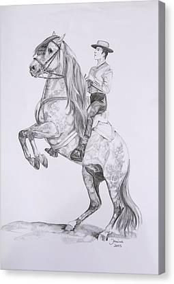 Carlos On Pensador Canvas Print by Janina  Suuronen
