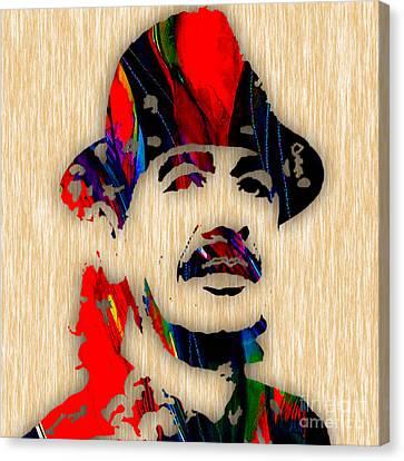 Santana Canvas Print - Carlos Santana Art by Marvin Blaine